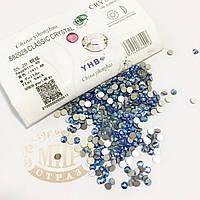 Стразы YHB Lux, цвет Sapphire AB, ss20 (4,8-5мм), 100шт