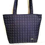 Женские стеганные сумки дешево опт до 100грн (каштан)30*41см, фото 3
