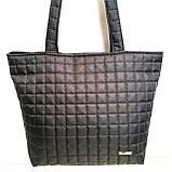 Женские стеганные сумки дешево опт до 100грн (кофе)30*41см, фото 2