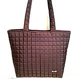 Женские стеганные сумки дешево опт до 100грн (кофе)30*41см, фото 3