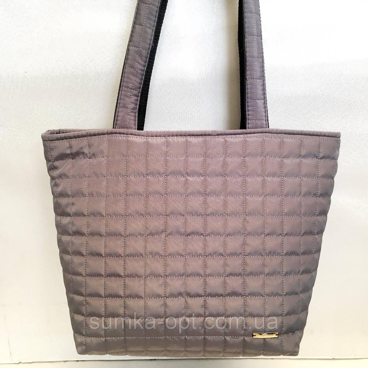Женские стеганные сумки дешево опт до 100грн (кофе)30*41см