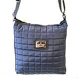 Женские стеганные сумки дешево опт до 100грн (черный)24*28см, фото 2