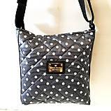 Женские стеганные сумки дешево опт до 100грн (черный)24*28см, фото 6