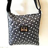 Женские стеганные сумки дешево опт до 100грн (синий)24*28см, фото 6