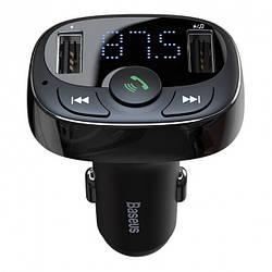 FM-Трансмиттер (Модулятор) Bluetooth Baseus S-09A (CCTM-01) Черный