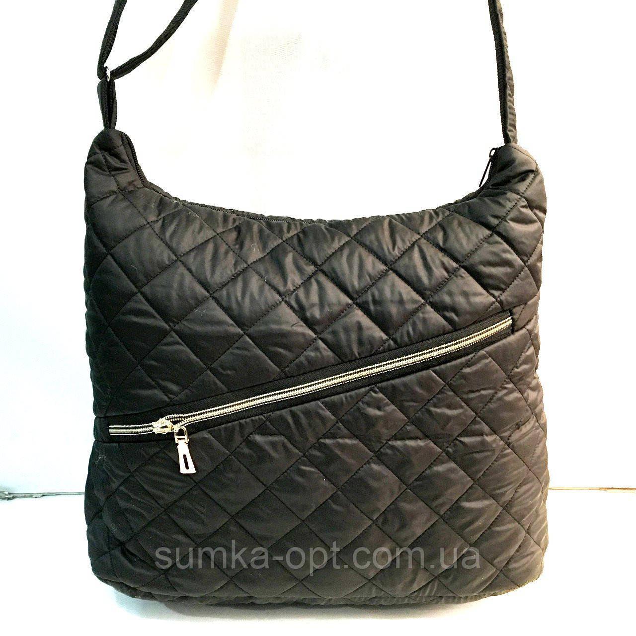 Женские стеганные сумки (черный)33*38см