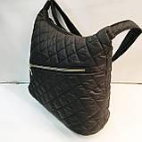 Женские стеганные сумки (черный)33*38см, фото 5