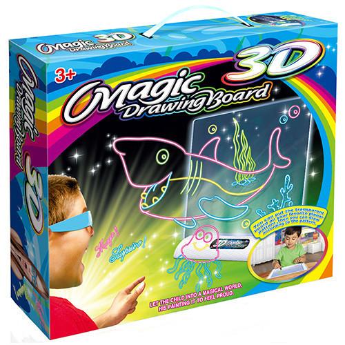 3D Доска для рисования Magic Drawing Board А4 - Подводный мир