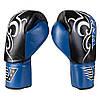Боксерские перчатки Velo на шнуровке, кожа, 12oz, сине/черный VLS3-12B