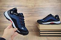 Мужские зимние кроссовки в стиле Adidas Climaproof низкие синие (без полосок)