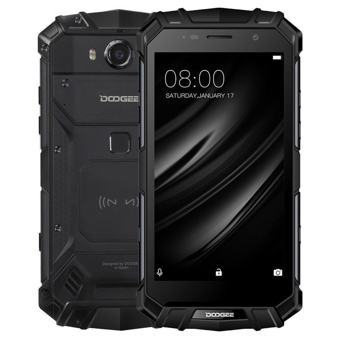 Защищенный мобильный телефон DOOGEE S60 black  4+32GB (5580mAh)