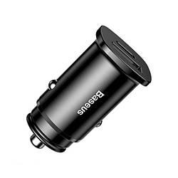 Зарядное Устройство для Авто от Прикуривателя USB+Type-C Baseus (CCALL-AS01) QC4.0 30W Черный