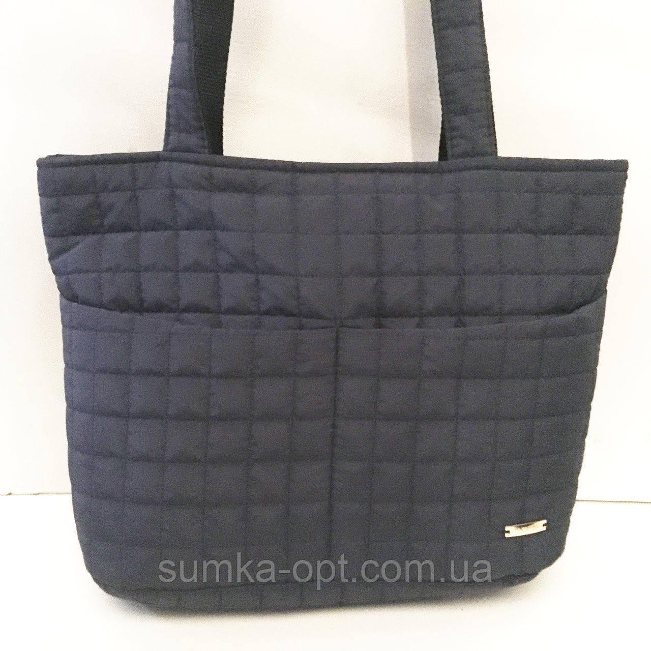 Женские стеганные сумки дешево опт до 100грн (синий)26*40см