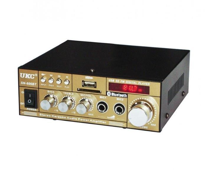 Усилитель звука UKC SN-606 BT, USB, Bluetooth, караоке, пульт