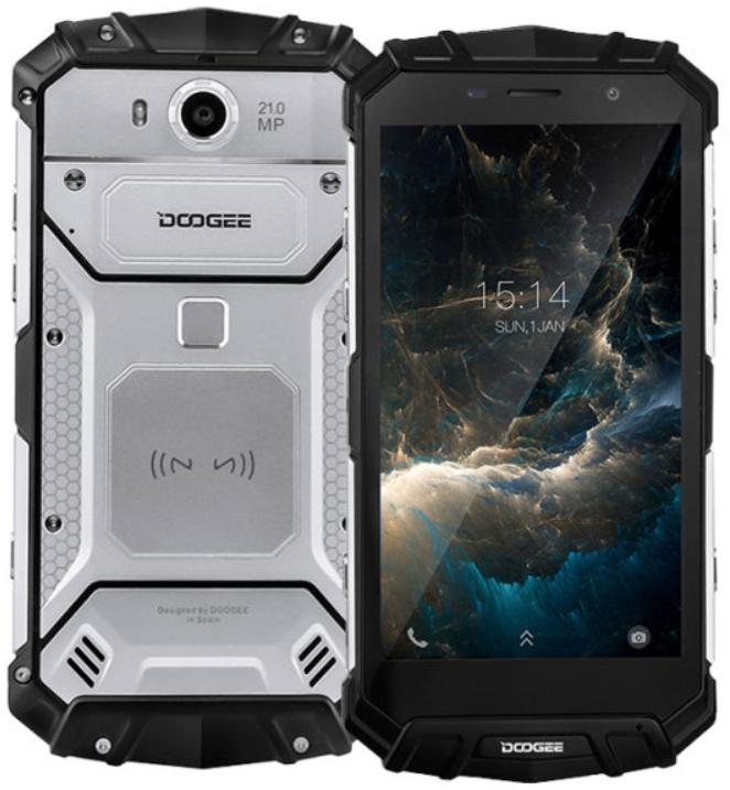 Защищенный мобильный телефон DOOGEE S60 silver  4+64 GB (5580mAh)
