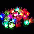 Светящееся кольцо Flashing Jelly Кролик   Flashing Jelly Ring Rabbit, фото 2