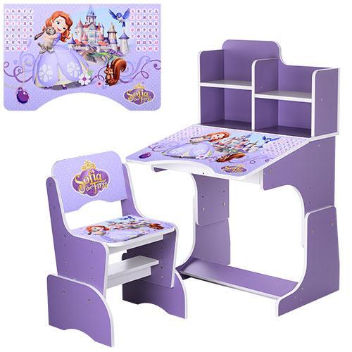 Детская парта W 2071-40-3 София фиолетовая