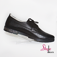 Натуральні шкіряні жіночі туфлі, фото 1