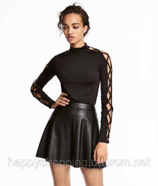 Женская черная стильная  кофта H&M