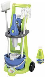 Игровой набор для уборки с пылесосом, тележкой и аксессуарами, Ecoiffier 3+ (001769)