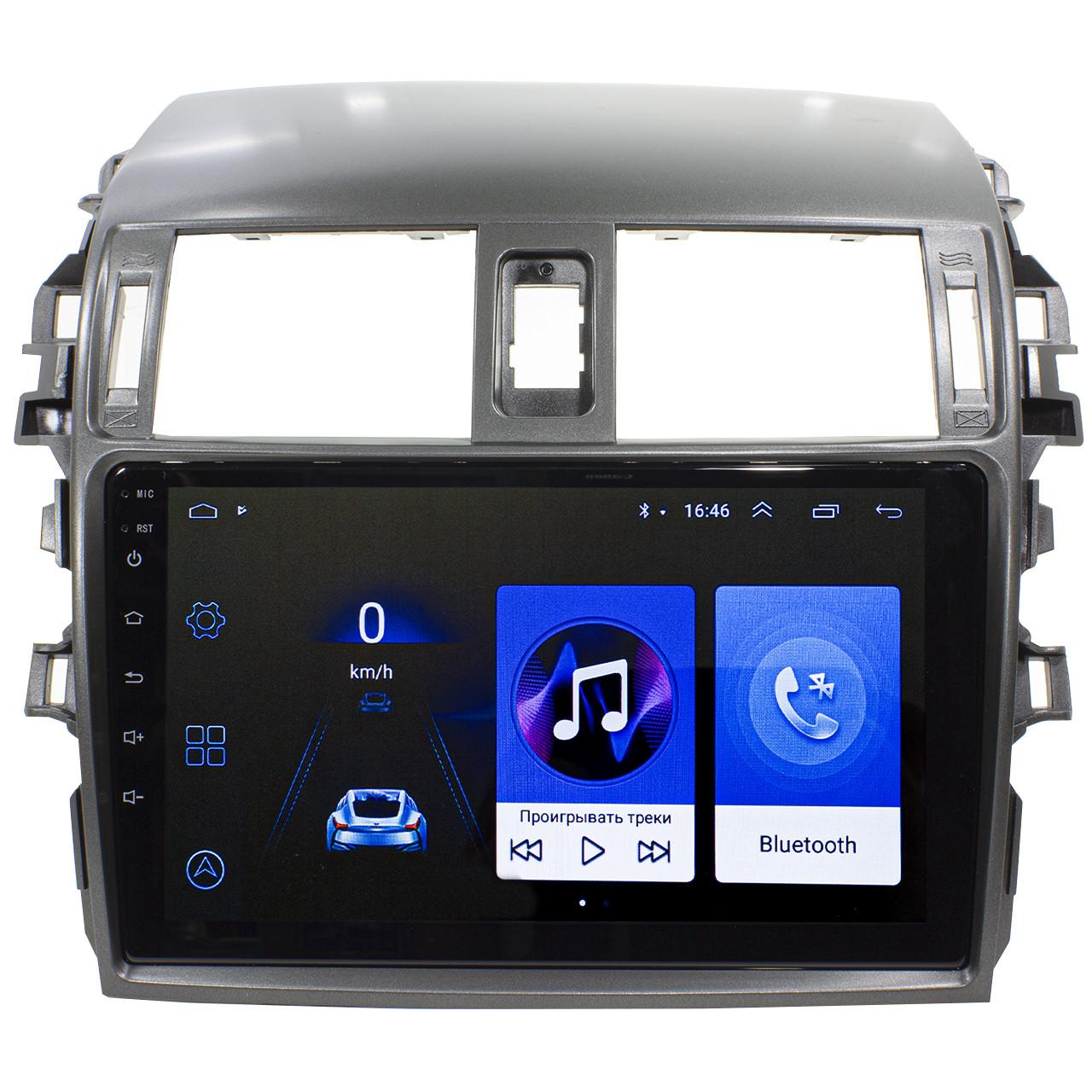 "Штатная автомобильная магнитола Toyota Corolla 9"" (2009-2013г.) сенсор WiFi GPS 4 ядра 1/16 Гб GPS Android"