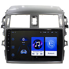 "Штатная автомобильная магнитола Toyota Corolla 9"" (2009-2013г.) сенсор WiFi GPS 4 ядра 1/16 Гб GPS Android 8.1"