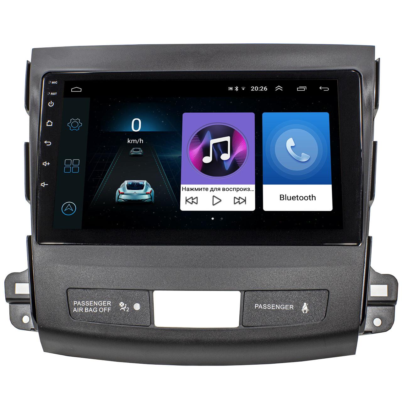 """ϞШтатная магнитола для автомобиля Mitsubishi Outlander 2005-2012г экран 9"""" GPS-навигация WiFi Android 8.1 хит*"""