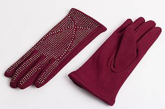 Перчатки женские FASHION GLOVES14007606 BORDO BLESTIASHKI