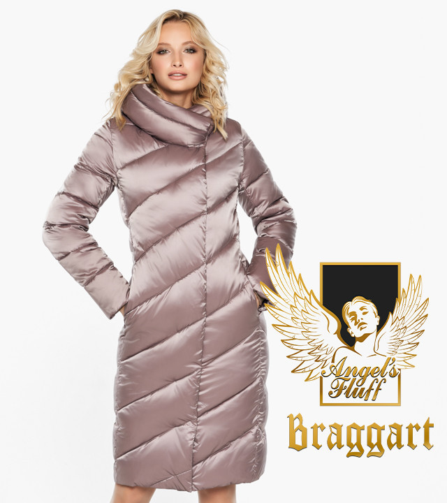 Воздуховик Braggart Angel's Fluff 30952 | Женская зимняя куртка пудра