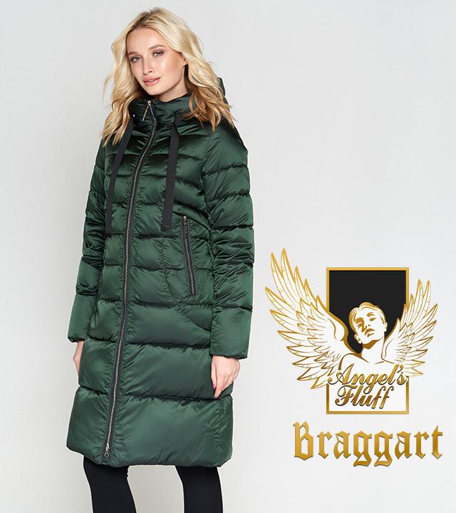 Воздуховик Braggart Angel's Fluff 47250 | Женская зимняя куртка зеленая