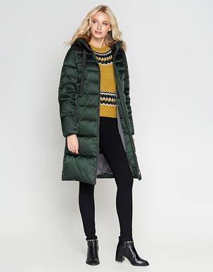 Воздуховик Braggart Angel's Fluff 47250 | Женская зимняя куртка зеленая, фото 2