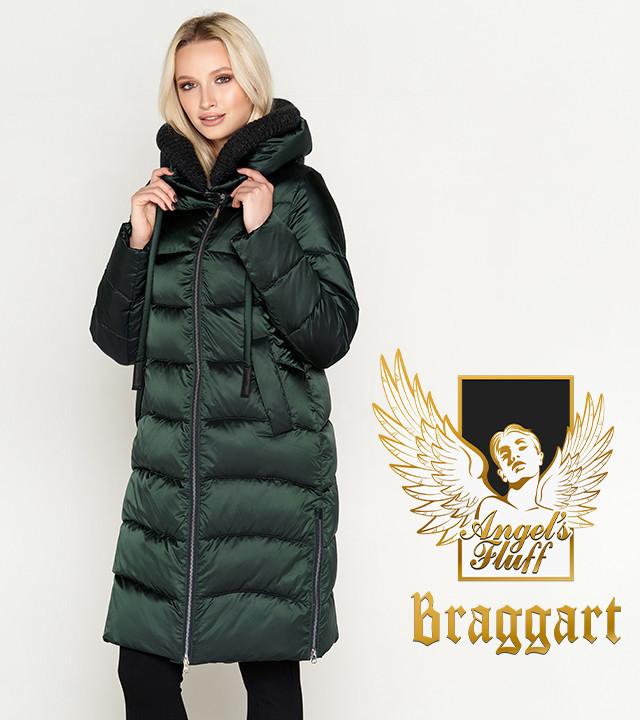 Воздуховик Braggart Angel's Fluff 27005 | Женская зимняя куртка зеленая