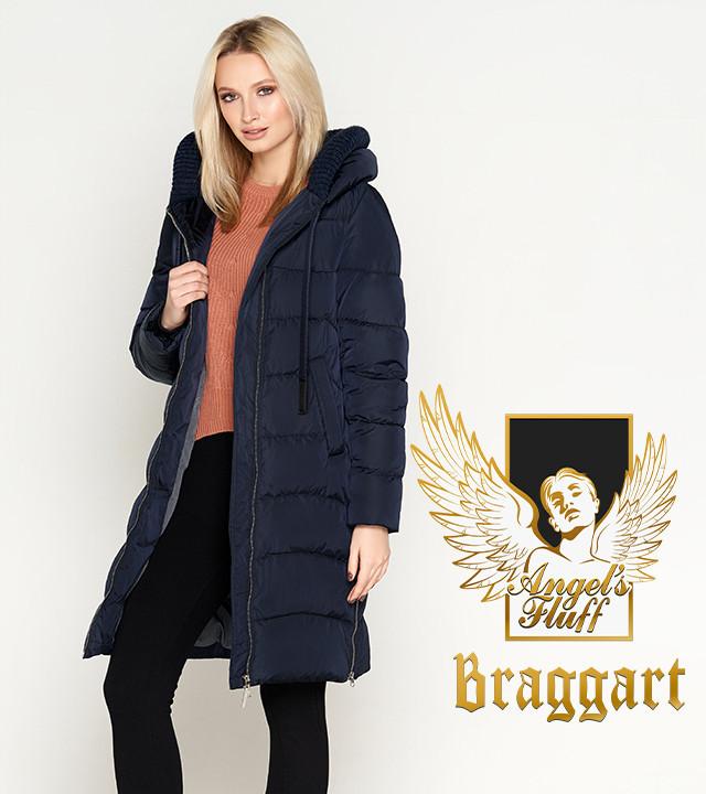 Воздуховик Braggart Angel's Fluff 27005 | Куртка женская зимняя синяя