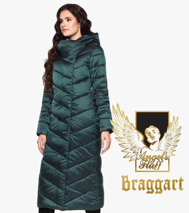 Воздуховик Braggart Angel's Fluff 31016 | Теплая женская куртка изумруд
