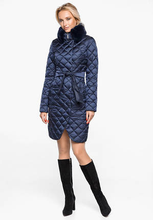 Воздуховик Braggart Angel's Fluff 31030 | Теплая женская куртка синий бархат, фото 2