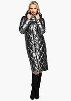 Воздуховик Braggart Angel's Fluff 31031   Зимняя женская куртка темное серебро, фото 2