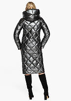 Воздуховик Braggart Angel's Fluff 31031   Зимняя женская куртка темное серебро, фото 3
