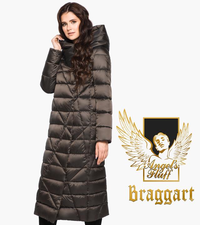 Воздуховик Braggart Angel's Fluff 31058 | Длинная женская куртка капучино