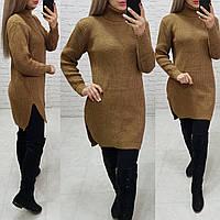 Женское нежное вязаное платье туника 44-48, фото 1