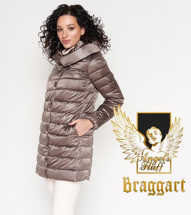 Воздуховик Braggart Angel's Fluff 35120   Длинная куртка осенне-весенняя темная пудра