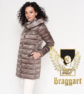 Воздуховик Braggart Angel's Fluff 35120   Длинная куртка осенне-весенняя темная пудра, фото 2