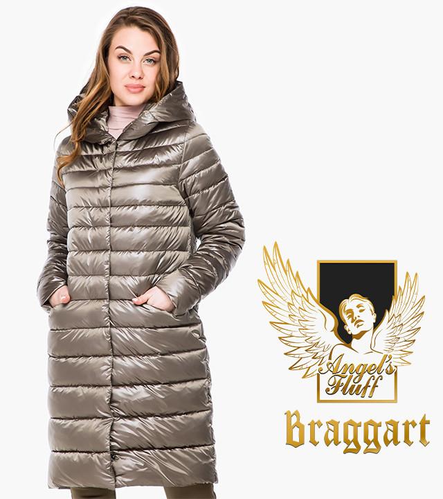 Воздуховик Braggart Angel's Fluff 18225   Осенне-весенняя женская куртка капучино