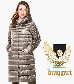 Воздуховик Braggart Angel's Fluff 18225   Осенне-весенняя женская куртка капучино, фото 2
