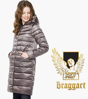 Воздуховик Braggart Angel's Fluff 18225 | Женская куртка весенне-осенняя темная пудра, фото 2