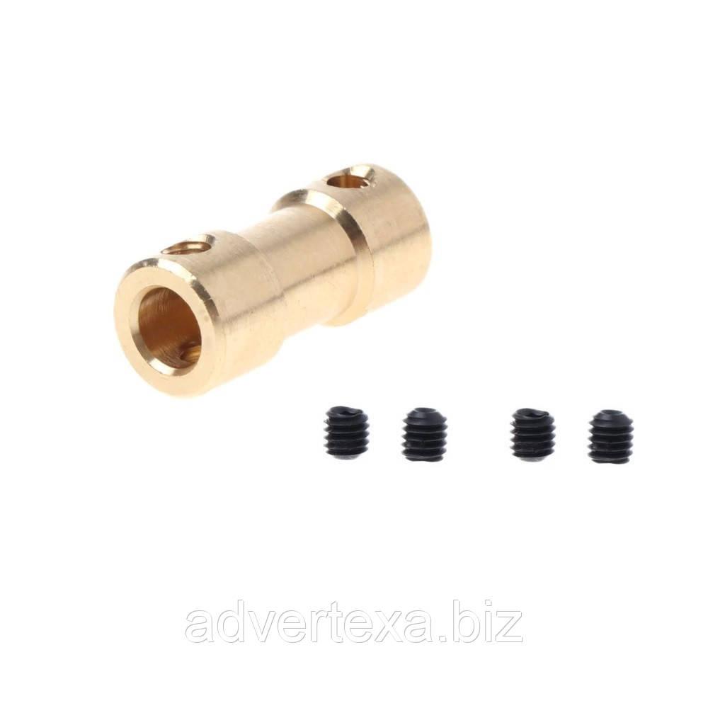 Соединительная муфта для валов 4-4 мм. переходник для мини дрели.