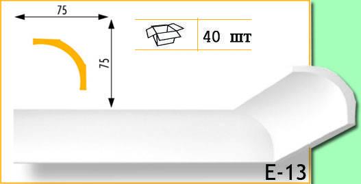 Плинтус потолочный Marbet Е13 75х75мм 2м.
