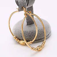 Серьги кольца покрытие позолота (арт26450)
