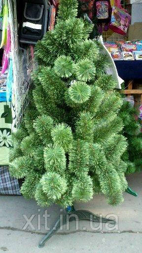 Сосна искусственная зеленая, распушенная 1.5 м