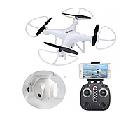 Квадрокоптер Дрон Sky Drone LH-X25 c WiFi Камерой Вращение 360 градусов White