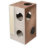 Ferplast Cat Tree Kubo 2 домик для кошек с когтеточкой и зонами для отдыха и игр, 45x47x89 см
